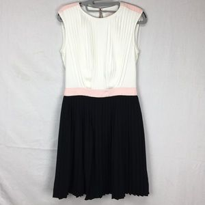 Ted Baker Glina Color-block Pleated Dress